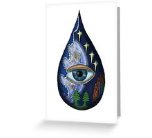 Fragile World surreal drawing  Greeting Card