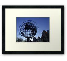 New York City World Framed Print