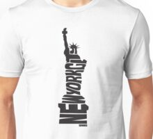 New York City: Statue of Liberty Black Unisex T-Shirt