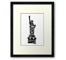 New York City: Statue of Liberty Black Framed Print