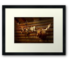 Taxidermy - The hunting lodge  Framed Print