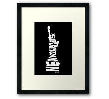 New York City: Statue of Liberty White Framed Print