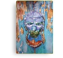 Into the Lion's Den - A Venetian Doorknocker Canvas Print