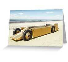 Golden Arrow on Daytona Beach Greeting Card