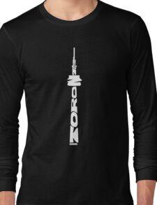 Toronto CN Tower White Long Sleeve T-Shirt