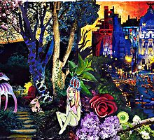 Magical city collage by Candysays