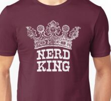 Nerd King Crown Logo (White Ink) Unisex T-Shirt