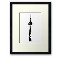 Toronto CN Tower Black Framed Print