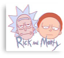 rick and morty in 3d Canvas Print