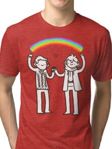 Sherlock and John: Rainbows Tri-blend T-Shirt