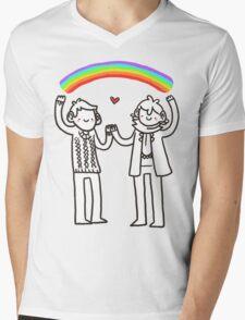 Sherlock and John: Rainbows Mens V-Neck T-Shirt