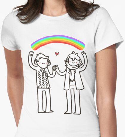 Sherlock and John: Rainbows Womens Fitted T-Shirt