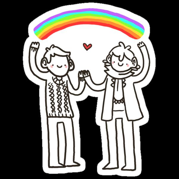 Sherlock and John: Rainbows by geothebio