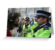 Jesus vs. The Met Greeting Card