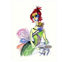 Sophisticated woman Art Print