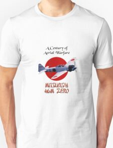 A6M Zero.  A Century of Aerial Warfare  T-Shirt