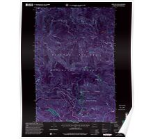 USGS Topo Map Washington State WA Bare Mountain 239938 1998 24000 Inverted Poster