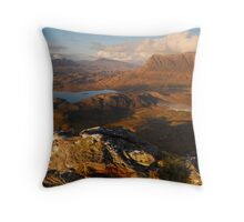 Assynt Mountains from Stac Pollaidh, Assynt, Sutherland, Scotland Throw Pillow
