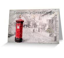 Seasons Greetings Postbox Greeting Card