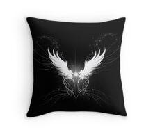 White wings with sparklies Throw Pillow