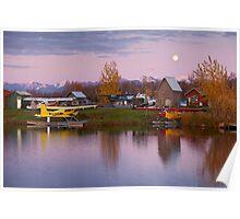 Moone Rise at Lake Hood Poster