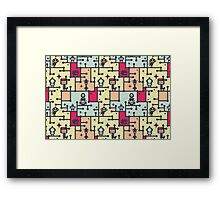 Robotos on the tree. Framed Print