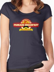 Saint Alphonzo's Pancake Breakfast  Women's Fitted Scoop T-Shirt