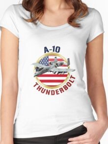 A-10 Thunderbolt  Women's Fitted Scoop T-Shirt