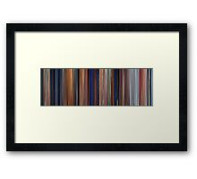 Moviebarcode: The Iron Giant (1999) Framed Print