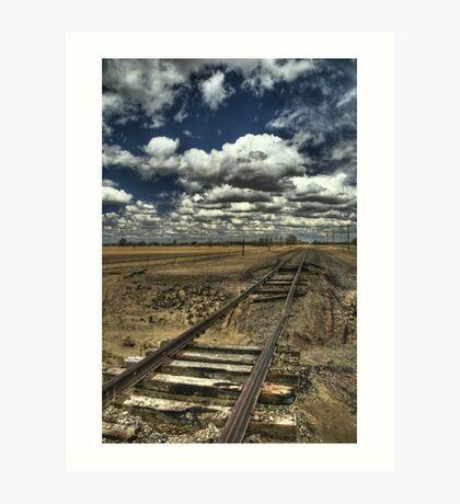 Burned Bridge at Ordway - HDR Art Print