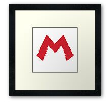 It's me ! Mario ! Framed Print