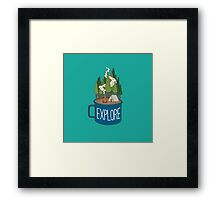 Camp Cup Explore Framed Print