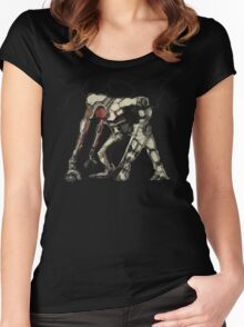 Robot [sketched] Women's Fitted Scoop T-Shirt