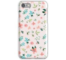 Pink floral watercolor pattern iPhone Case/Skin