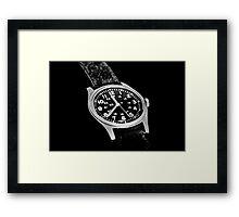 Military Time Framed Print