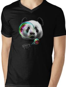 PANDA BUBBLEMAKER Mens V-Neck T-Shirt