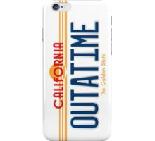 Back to the Future II Licence Plate Outatime iPhone Case/Skin
