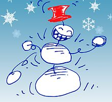 Boogie Snowman Cards by Syd Baker