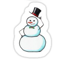 Snow Gentleman Mini Stickers Sticker