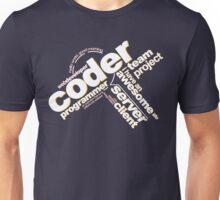 Programmer - Typography Coder Unisex T-Shirt