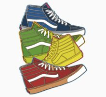 MULTI-COLOR VANS SNEAKERS by SOL  SKETCHES™