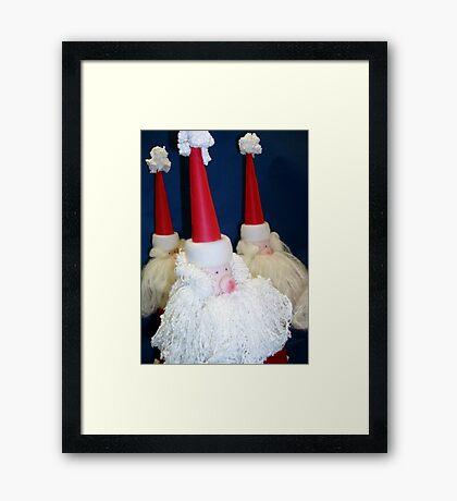 Treble Santa Framed Print