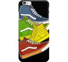 MULTI-COLOR VANS SNEAKERS iPhone Case/Skin