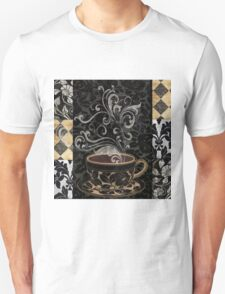 Cafe Noir I Coffee Damask Unisex T-Shirt