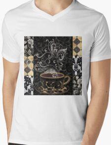 Cafe Noir I Coffee Damask Mens V-Neck T-Shirt