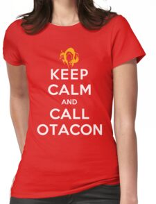Keep Calm and Call Otacon Womens Fitted T-Shirt