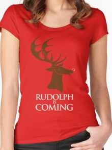 Rudolph is coming Women's Fitted Scoop T-Shirt