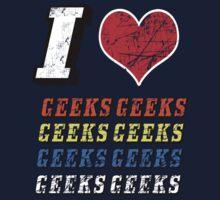 I love Geeks Kids Tee