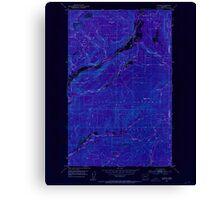 USGS Topo Map Washington State WA Aladdin 239770 1952 24000 Inverted Canvas Print