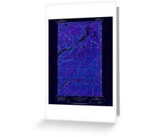 USGS Topo Map Washington State WA Aladdin 239770 1952 24000 Inverted Greeting Card